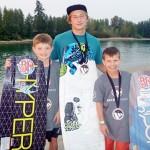 Wakeboarders lead