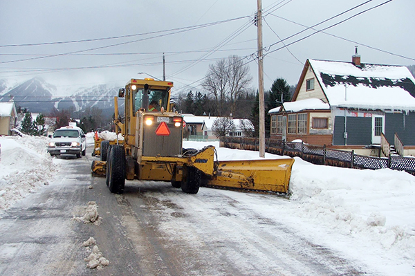 Fernie snow clearing