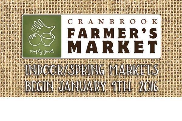 Cranbrook Farmer's Market –  Indoor/Spring Markets