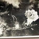 7 EF Tirpitz on fire (Photo courtesy of Bud Abbott)