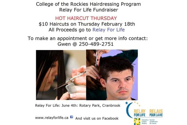 College of the Rockies Hairdressing Program – Relay for Life Fundraiser
