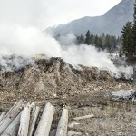 Radium Resort debris fire