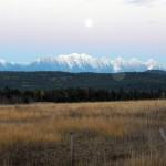 Moon over rangeland