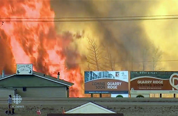 Fort Mac fire CBC image